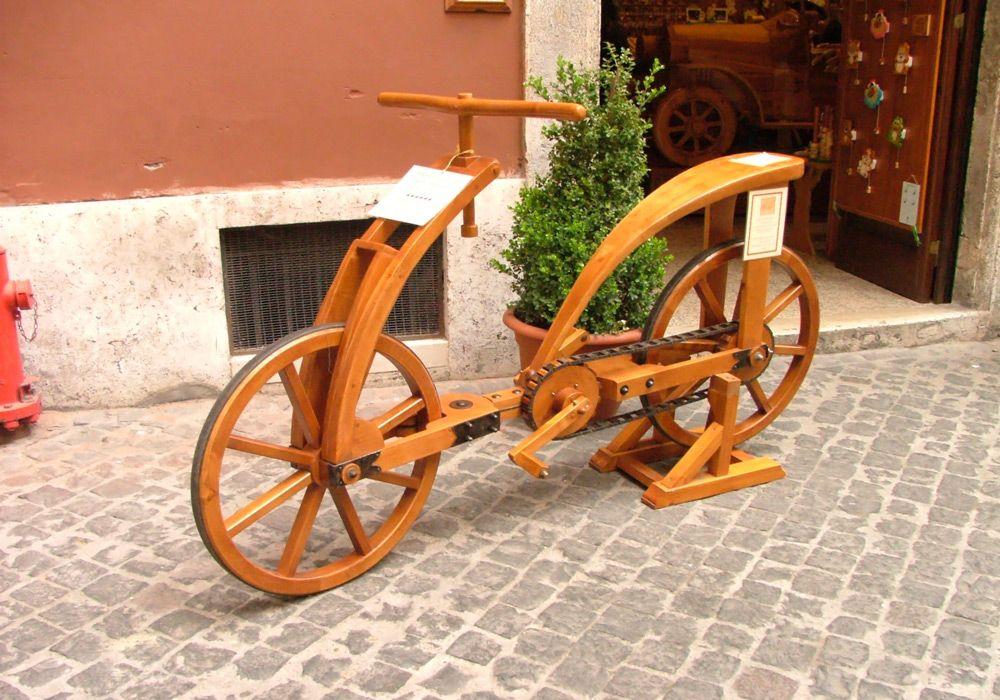 Велосипед по макету Леонардо да Винчи