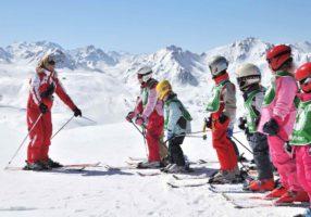 Начинающие горнолыжники