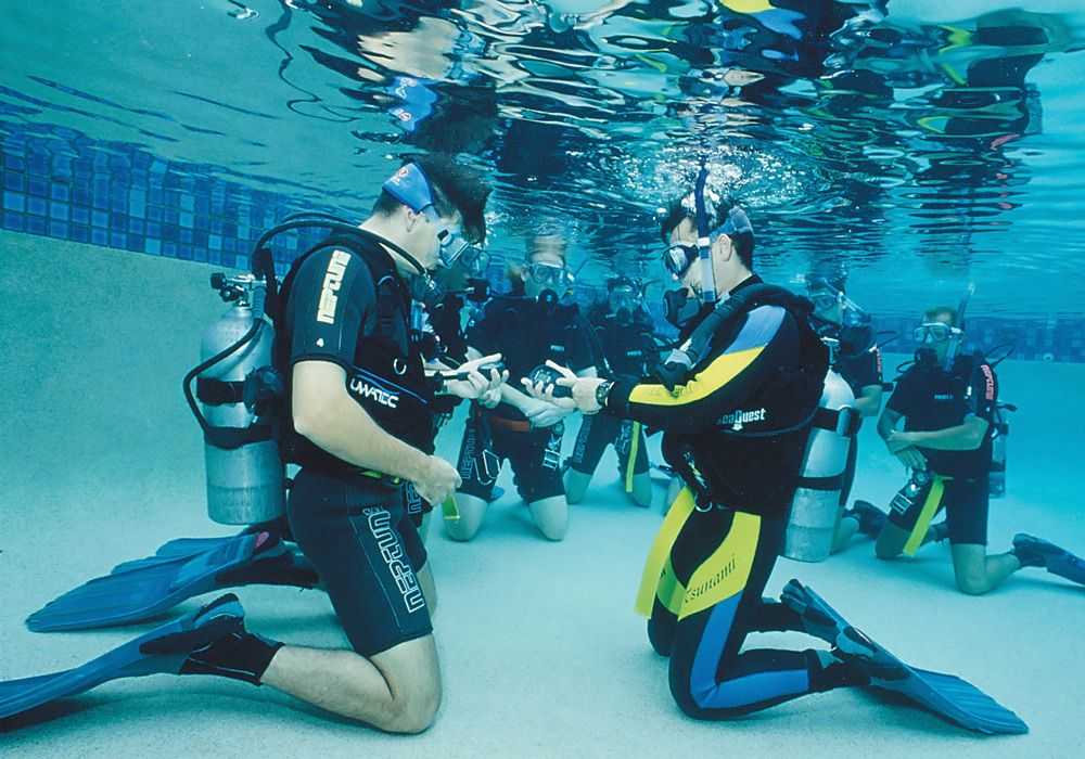 Обучение в бассейне