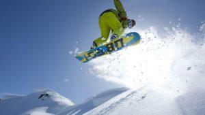 Трюк на сноуборде
