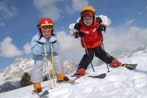 Дети на горных лыжах