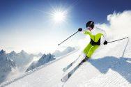 Спуск на горных лыжах