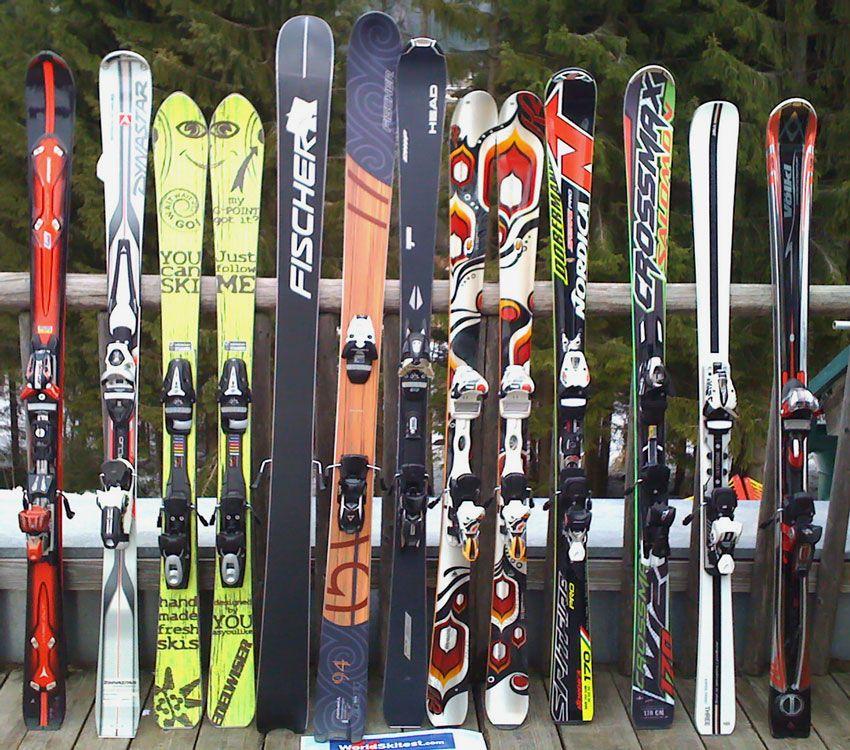 Форма горных лыж