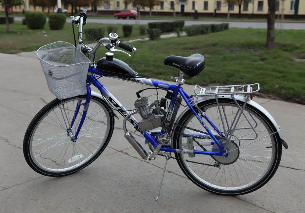 Велосипед с бензиновым двигателем