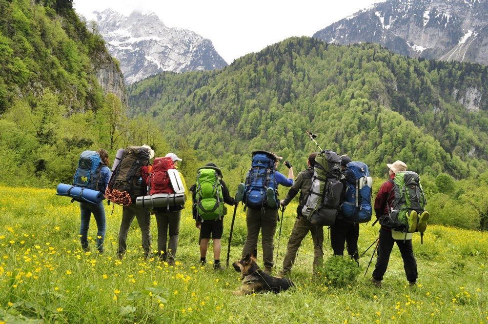 Группа людей в горах