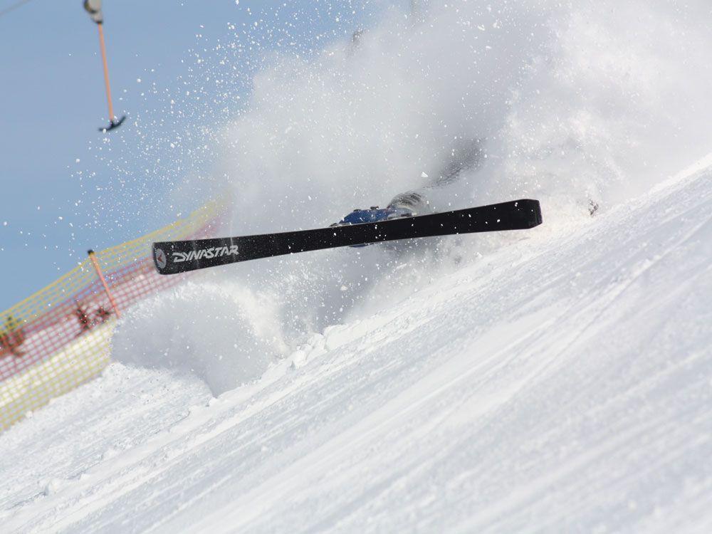 Падение на горных лыжах