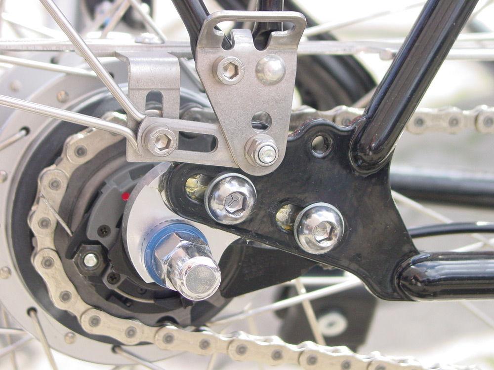 Цепь на задней звездочке велосипеда