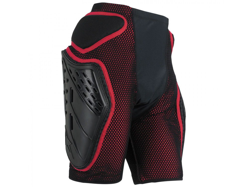 Красные защитные шорты для сноуборда