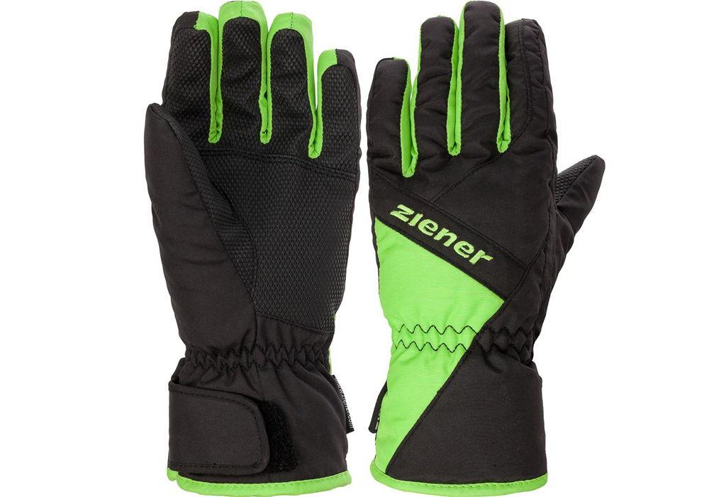 Лыжные перчатки зеленые