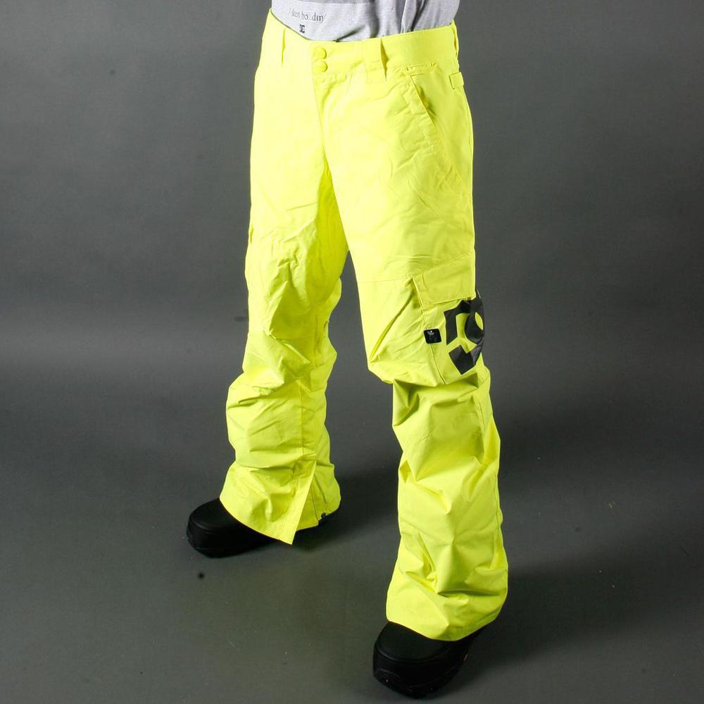 Сноубордические штаны салатовые DC
