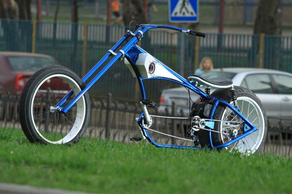 Велочоппер синий