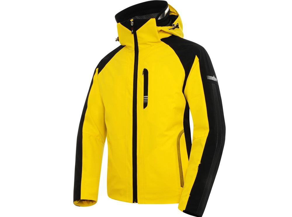 Желтая горнолыжная куртка
