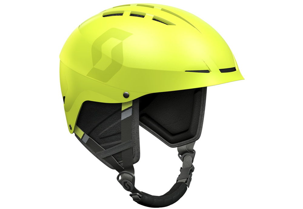 Зеленый горнолыжный шлем
