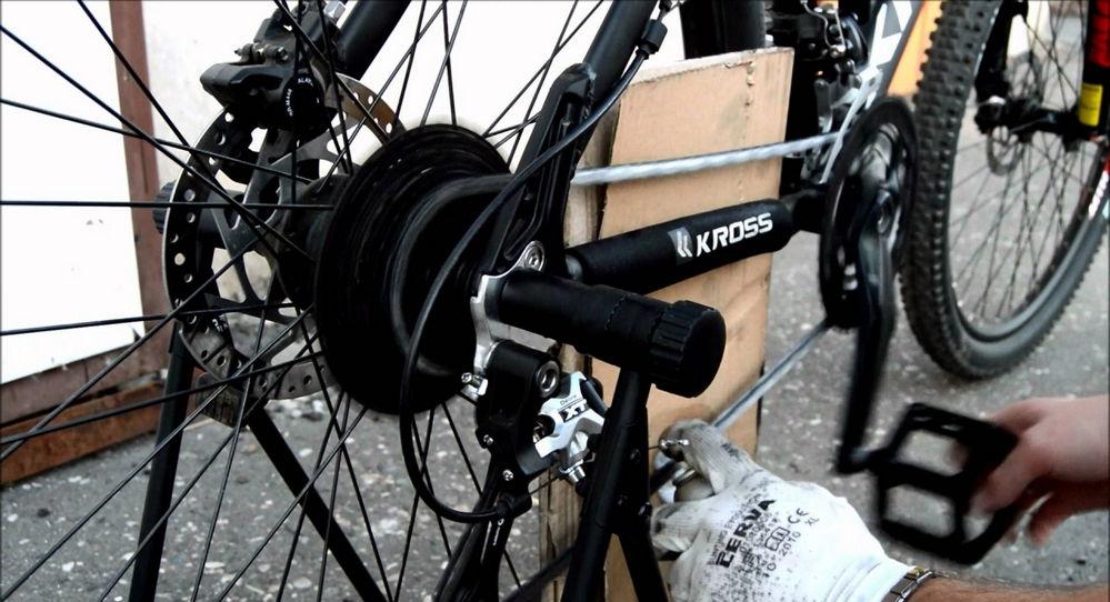 Установка велоцепи