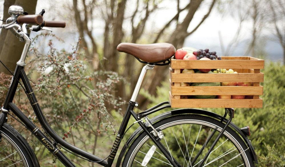 Вместительный багажник из ящика велосипед