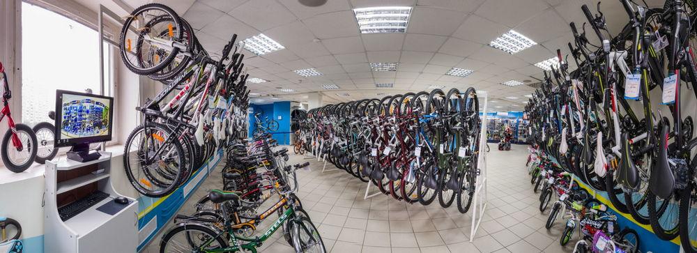 Выбор велосипедов в магазине