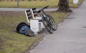 алкоголь и велосипедист