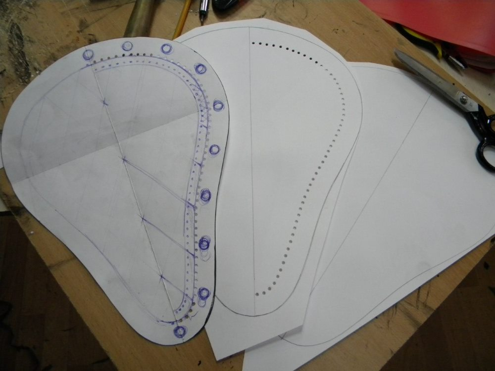 чертеж для велоседла