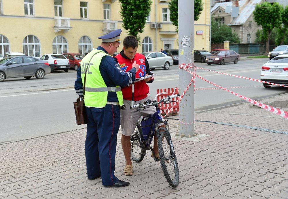 Гаи и велосипедист