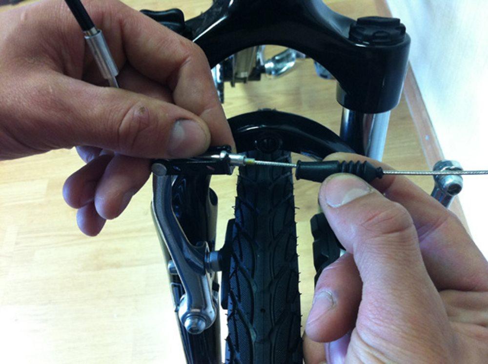 Как настроить велотормоза