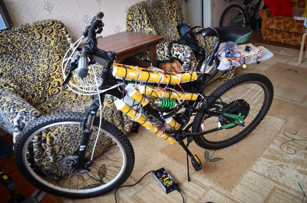 Велосипед с батареями