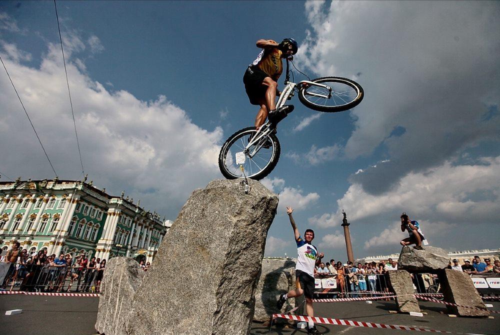 велотриал в городе