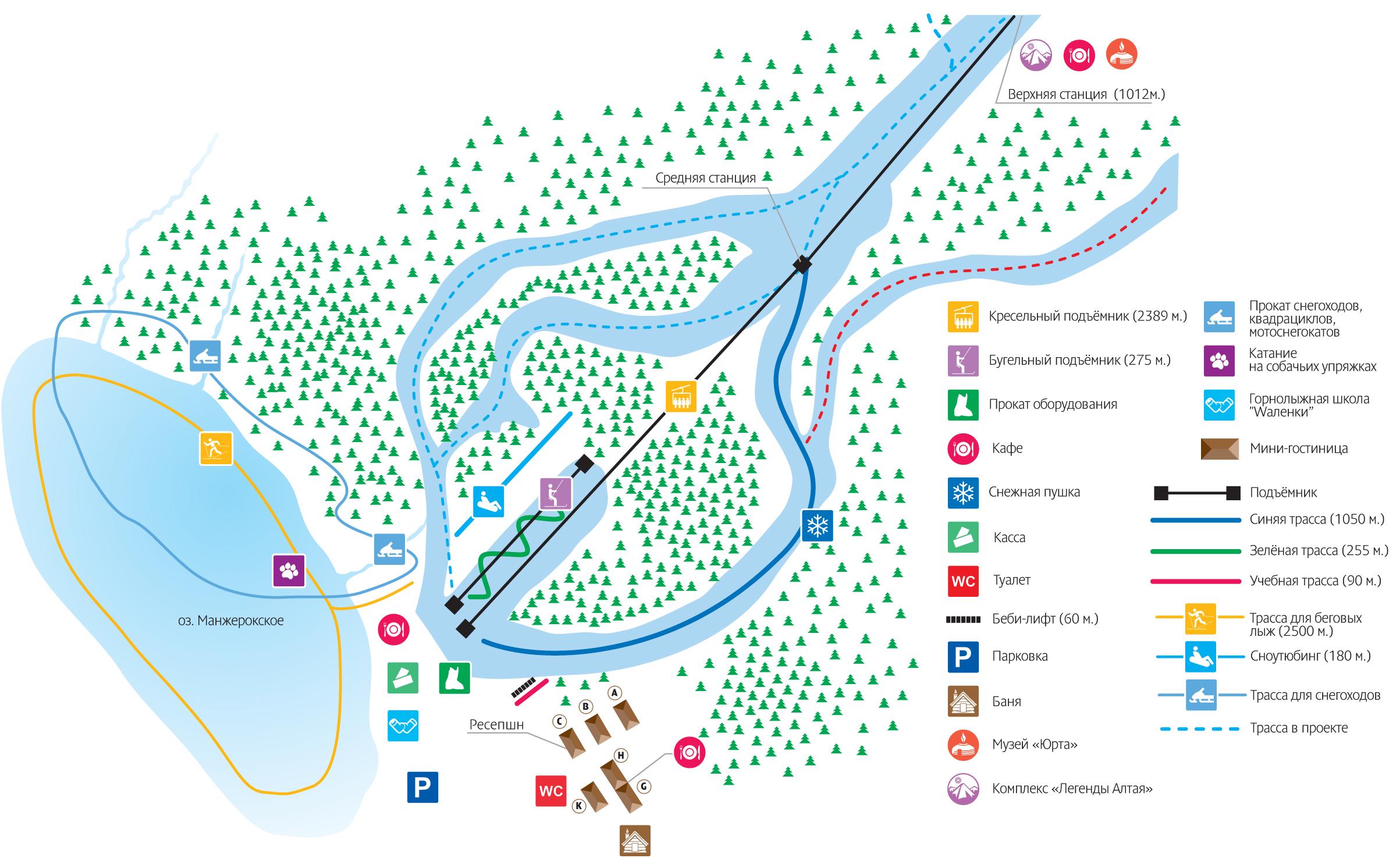 схема трасс манжерок