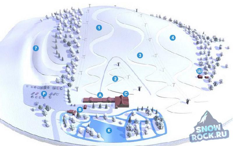 схема склонов охта парк