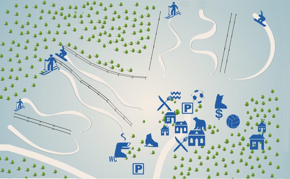 схема трасс северный склон