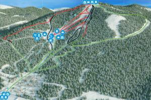 Схема трасс - Горнолыжный курорт Горный Воздух