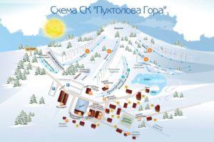 Схема склонов Пухтолова гора