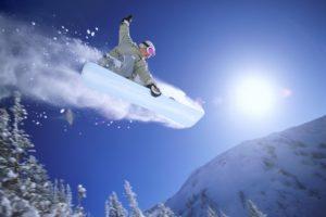 Спуск на сноуборде