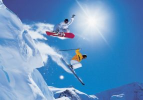 Лыжник и сноубордист