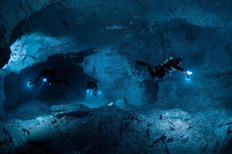 Дайвинг в пещере