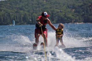 Обучение водным лыжам