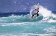 Виндсёрфинг на волнах