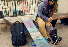 Завязывание ботинок для сноуборда