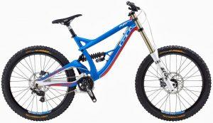 Синий горный велосипед