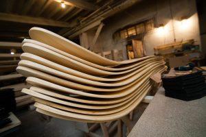 Деревянные макеты лыж