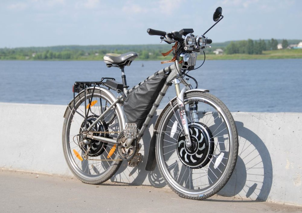 Колесо-мотор на велосипеде