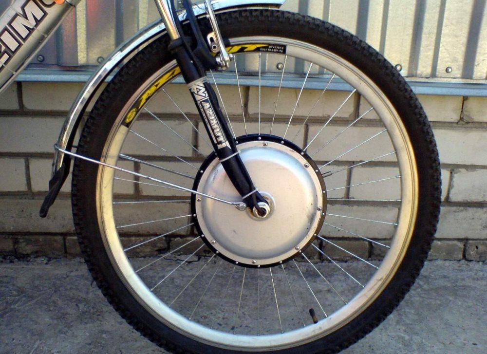 Установка колесо-мотора