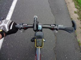 Установленный велокомпьютер