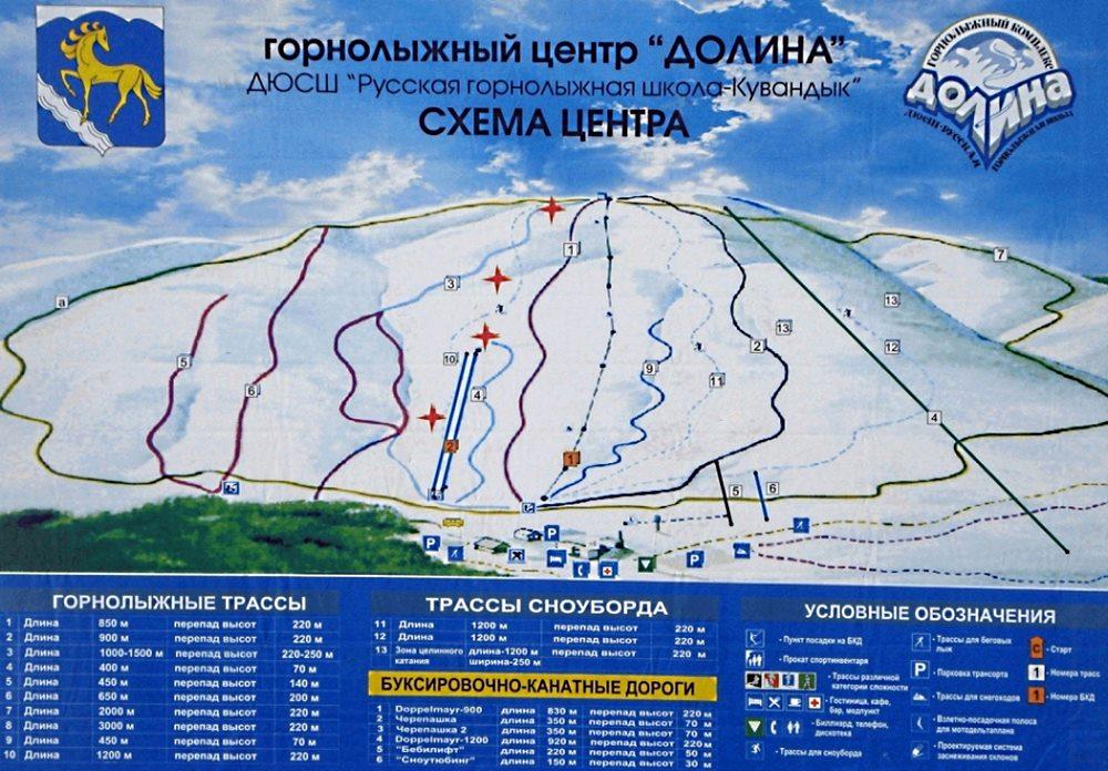схема склонов в долине кувандык