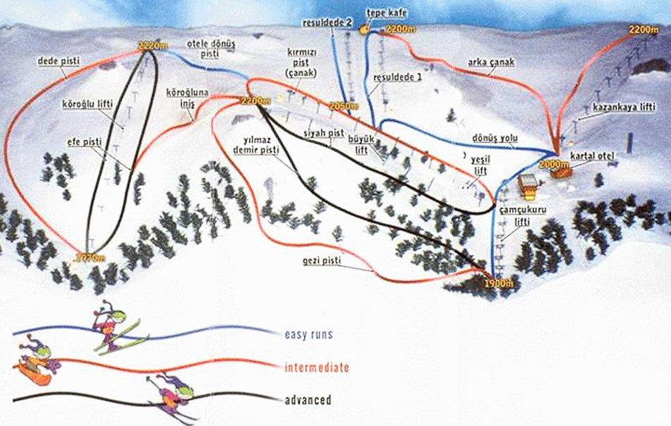 Карта трасс Картаклая