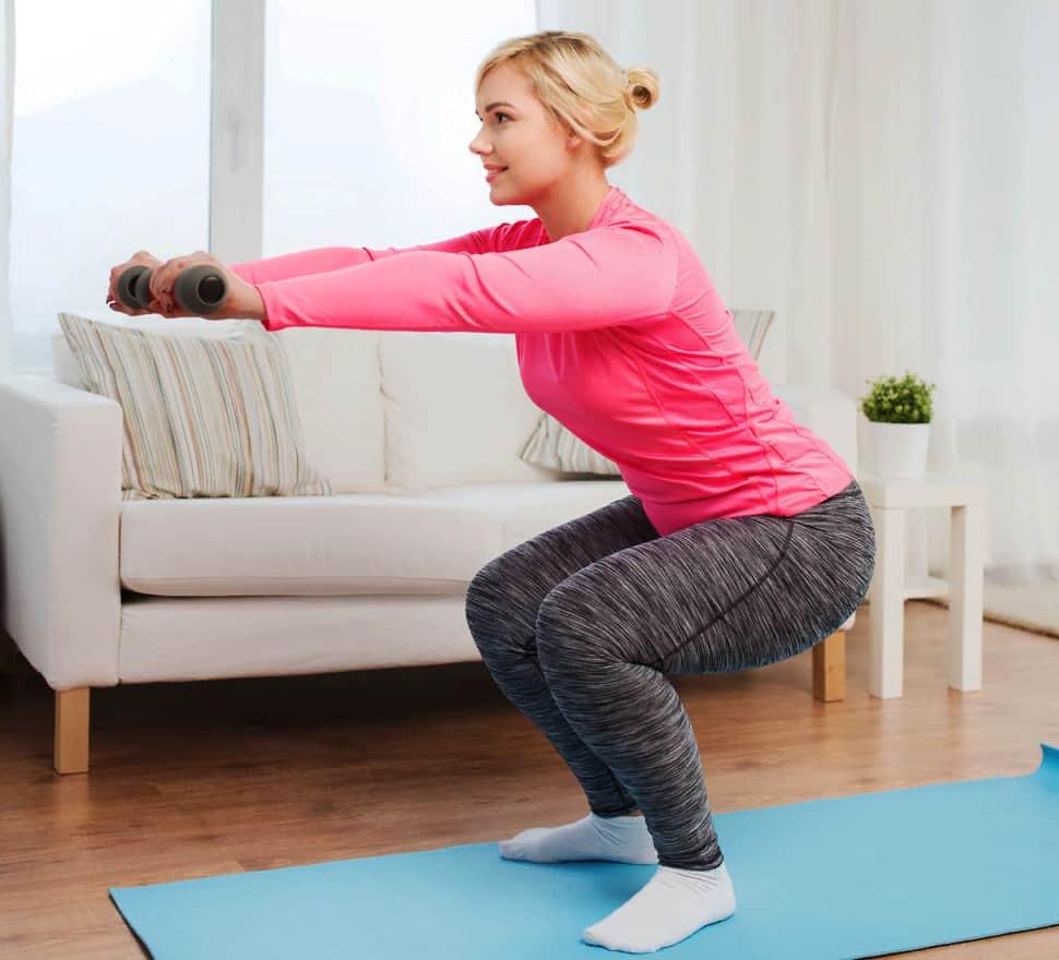 Домашнее фитнес упражнения для похудения