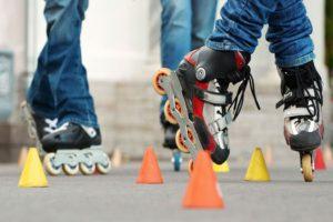 Катание на роликовых коньках
